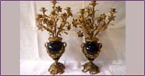 A pair of candelabra