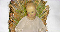 Little  Jesus child, in wax, for crib