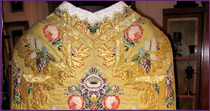 Chasuble in silk from Lyons